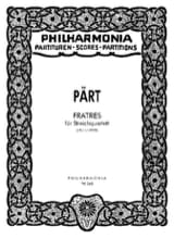 Fratres - Streichquartett - Partitur Arvo Pärt laflutedepan.com