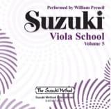 Viola School Volume 5 - CD Suzuki Partition Alto - laflutedepan.com