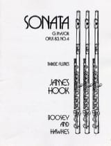 Sonate G Dur op 83/4 James Hook Partition laflutedepan