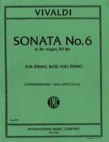 VIVALDI - Sonata No. 6 in B flat maj. RV 46 - String bass - Sheet Music - di-arezzo.com