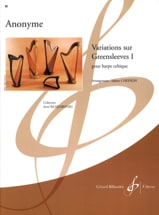 Variations sur Greensleeves 1 Partition Harpe - laflutedepan