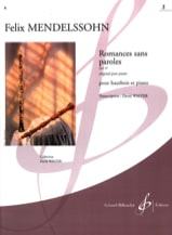 Romances Sans Paroles Volume 2 : Opus 30 MENDELSSOHN laflutedepan.com