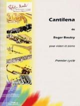 Cantilena Roger Boutry Partition Violon - laflutedepan.com