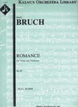 Max Bruch - Romance for Viola in F, op. 85 - Score - Partition - di-arezzo.fr