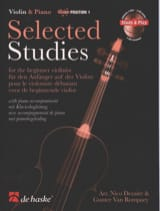 Selected Studies Dezaire - DE HASKE Partition Violon - laflutedepan.be