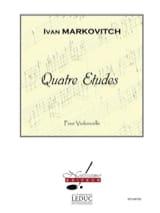 4 Etudes Ivan Markovitch Partition Violoncelle - laflutedepan.com