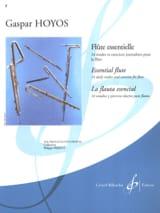 Flûte Essentielle - Gaspar Hoyos - Partition - laflutedepan.com
