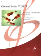 Giovanni Battista Viotti - 1st Solo of the Concerto n ° 13 - Sheet Music - di-arezzo.com