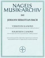 BACH - 14 Canons BWV 1087 Uber Goldberg Variationen - Partition - di-arezzo.fr