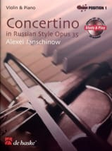 Alexei Janschinow - Concertino In Russian Style Op. 35 - Partition - di-arezzo.fr
