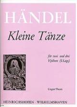 Georg Friedrich Haendel - Kleine Tänze - Partition - di-arezzo.fr
