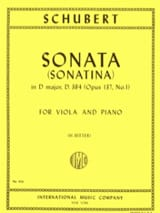 SCHUBERT - Sonatina No. 1 op. 137 - D. 384 - Sheet Music - di-arezzo.co.uk