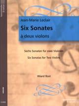 6 Sonates à deux violons Jean-Marie Leclair Partition laflutedepan.com