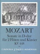 Sonate in D-Dur KV 448 - 2 Flöten Klavier MOZART laflutedepan