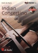 Indian Concertino George Perlman Partition Violon - laflutedepan.com