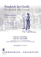 der Grosse Friedrich - Solo Nr. 130 D-Dur – Solo Nr. 174 H-Moll - Partition - di-arezzo.fr