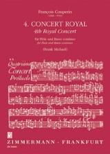 François Couperin - ロイヤルコンサート第4番 - フルートとBc - 楽譜 - di-arezzo.jp