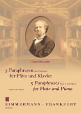 Giulio Briccialdi - 5 Paraphrasen nach Verdi-Opern - Partition - di-arezzo.fr