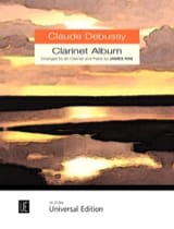 Clarinet Album Claude Debussy Partition Clarinette - laflutedepan.com