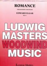 Romance - Opus 62 Edward Elgar Partition Basson - laflutedepan.com