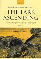 The Lark ascending - Score WILLIAMS VAUGHAN Partition laflutedepan