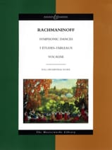 Symphonic Dances - 5 Etudes-Tableaux - Vocalise laflutedepan.com