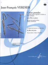 Cartes postales Jean-François Verdier Partition laflutedepan.com