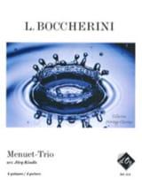 Luigi Boccherini - Menuet-Trio - Partition - di-arezzo.fr