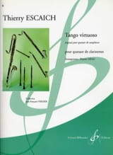 Tango Virtuoso Thierry Escaich Partition Clarinette - laflutedepan.com