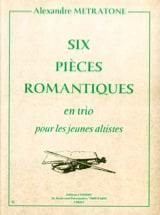 6 Pièces Romantiques Alexandre Metratone Partition laflutedepan.com