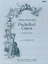 Johann Pachelbel - Canon – Violon - Partition - di-arezzo.fr