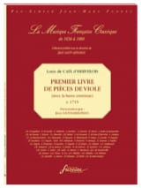 d'Hervelois Louis de Caix - First book of viol coins - Sheet Music - di-arezzo.com