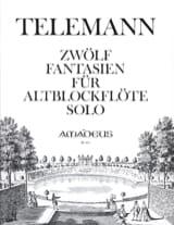 TELEMANN - 12 Fantasy - Altblockflöte solo - Sheet Music - di-arezzo.co.uk