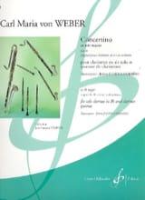 Concertino en mib majeur op. 26 Carl Maria von Weber laflutedepan.com