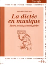 La Dictée en Musique - Corrigé - Volume 3 laflutedepan.com