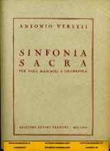 Sinfonia sacra Antonio Veretti Partition Grand format - laflutedepan