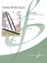 2 Monodies Op. 213 Charles Koechlin Partition laflutedepan.com