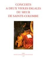 Concerts à 2 Violes Egales du Sieur de Sainte-Colombe laflutedepan.com