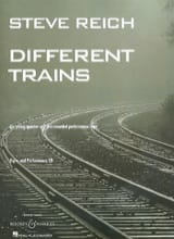 Different Trains - String Quartet - Parts Steve Reich laflutedepan.com