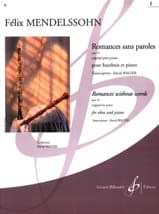 Romances Sans Paroles Volume 1 : Opus 19 MENDELSSOHN laflutedepan.com