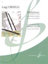 Réminiscence Luigi Orselli Partition Basson - laflutedepan.com