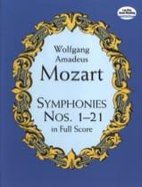 Symphonies N° 1 à 21 MOZART Partition Grand format - laflutedepan.com