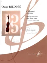 Oskar Rieding - Concerto op. 35 in E minor - Sheet Music - di-arezzo.co.uk