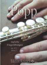 Wilhelm Popp - Tägliche Fingerübungen Op. 413 Bd. 1 – Flöte - Partition - di-arezzo.fr