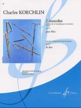 2 Monodies op. 213 – Flûte - Charles Koechlin - laflutedepan.com