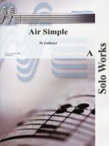 Air simple Maurice Faillenot Partition Clarinette - laflutedepan.com
