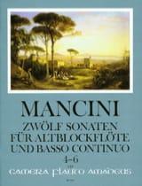 Francesco Mancini - 12 Sonaten - Nr. 4-6 – Altblockflöte u. Bc - Partition - di-arezzo.fr