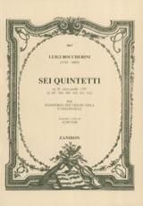 BOCCHERINI - Sei Quintetti Op. 56 G. 407-412 Piano Conducteur - Partition - di-arezzo.fr