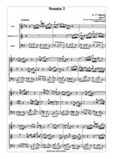 HAENDEL - Sonata n° 1 op. 5 - 2 Oboen Englischhorn - Partitur + Stimmen - Partition - di-arezzo.fr