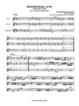 TELEMANN - Introduzzione to be - 2 Oboen Englischhorn - Partitur Stimmen - Partitura - di-arezzo.es